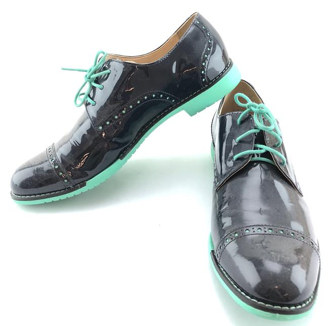 Item - Blue #18297 Patent Leather Oxfords Loafers Formal Shoes Size US 8 Regular (M, B)