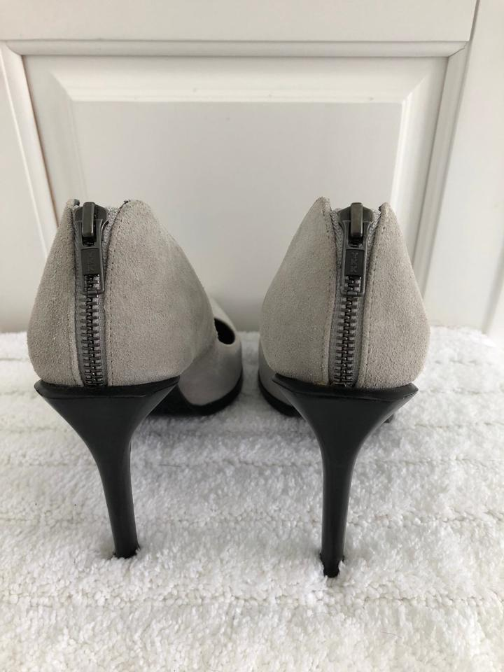 Back Lang Gray Zip Suede Pumps Helmut fdtpqf