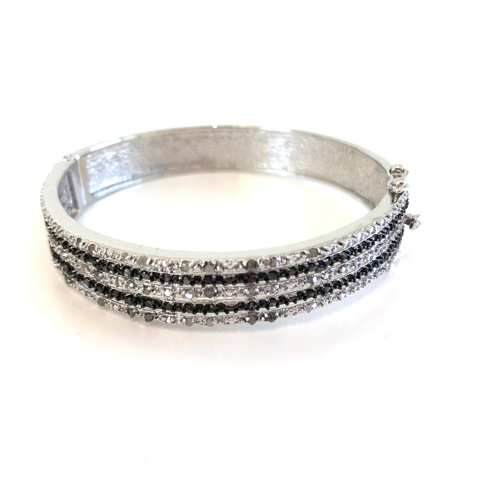 diamond ct sterling bangle with plated p zirconia bangles bracelet in tw silver white gold cubic