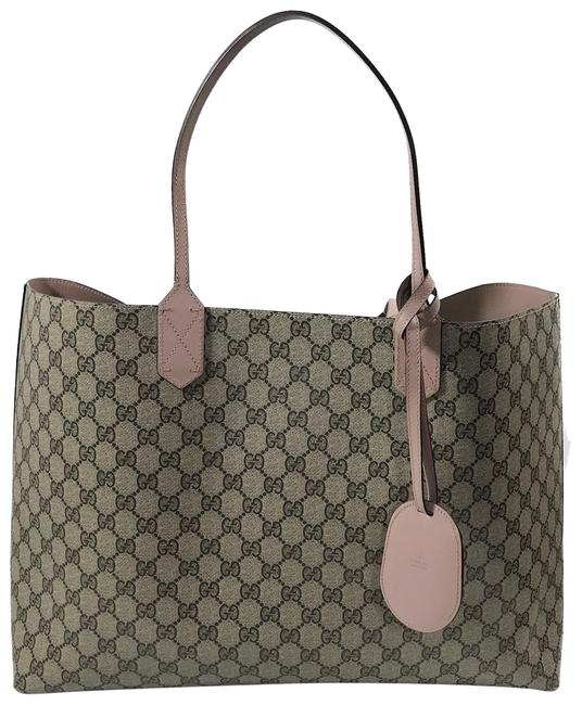 Item - Reversible Gg Multicolor Leather Tote