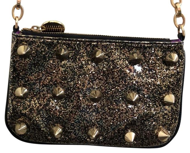 Item - Rock Spike Black & Gold Not Sure - It Does Not Have A Proper Fabric Label Tag. I Think It's A Synthetic Leather and A Plastic Overlay On Cross Body Bag