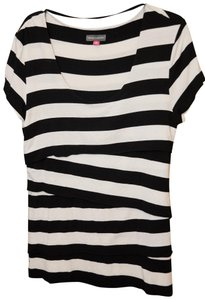 Vince Camuto Top Black and Off-White