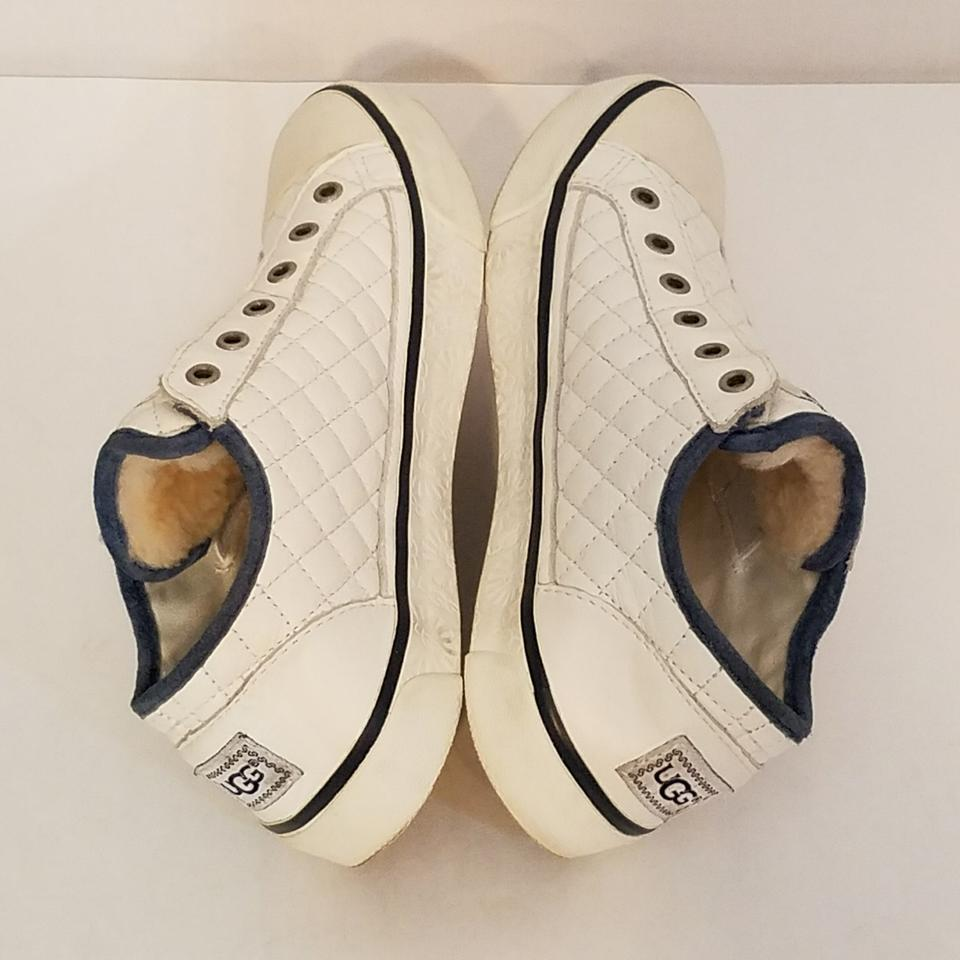 b2fdae72df2 UGG Australia White Laela Quilted Leather Slip-on Sneaker Sneakers Size US  6 Regular (M, B) 57% off retail