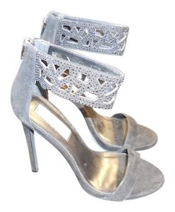 Steve Madden Rhinestone Ankle Strap Lace Cut Out. Strap Black Pumps