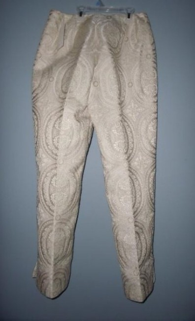 Susan Bristol Tapestry Bohemian Vanilla New With Tags $140 Trouser Pants Ivory