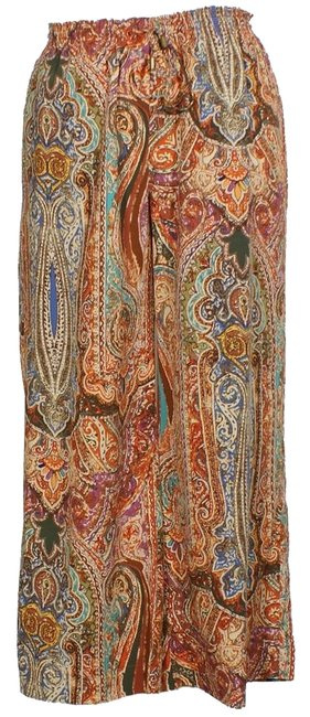 Preload https://img-static.tradesy.com/item/2325316/lauren-ralph-lauren-tan-multi-paisley-drawstring-wide-10-pants-size-12-l-32-33-0-0-650-650.jpg