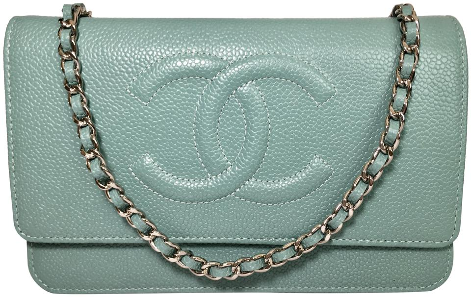 e97416bd2bf0 Chanel Wallet on Chain New Timeless Cc Light Green Caviar Leather ...