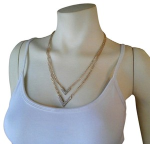 Layered V Crystal Necklace