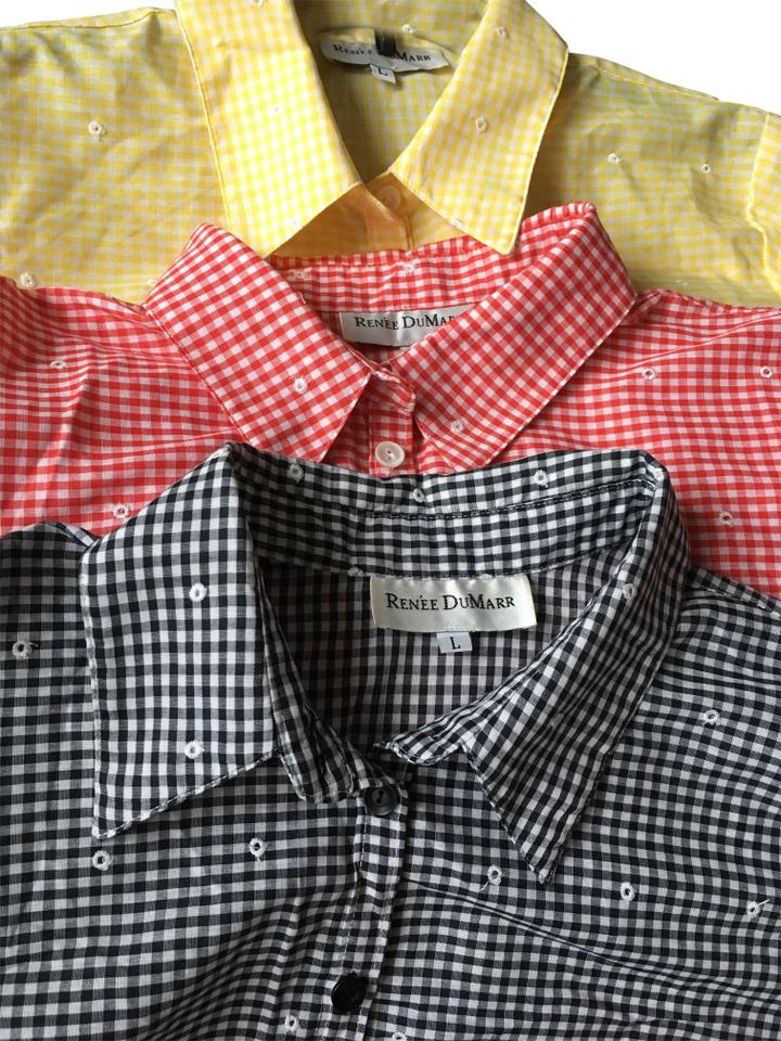 8b1555f26e2 Red and White Black and White Yellow and White Gingham Short Casual Dress
