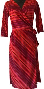 Red Purple Stripe Maxi Dress by Helen Wang