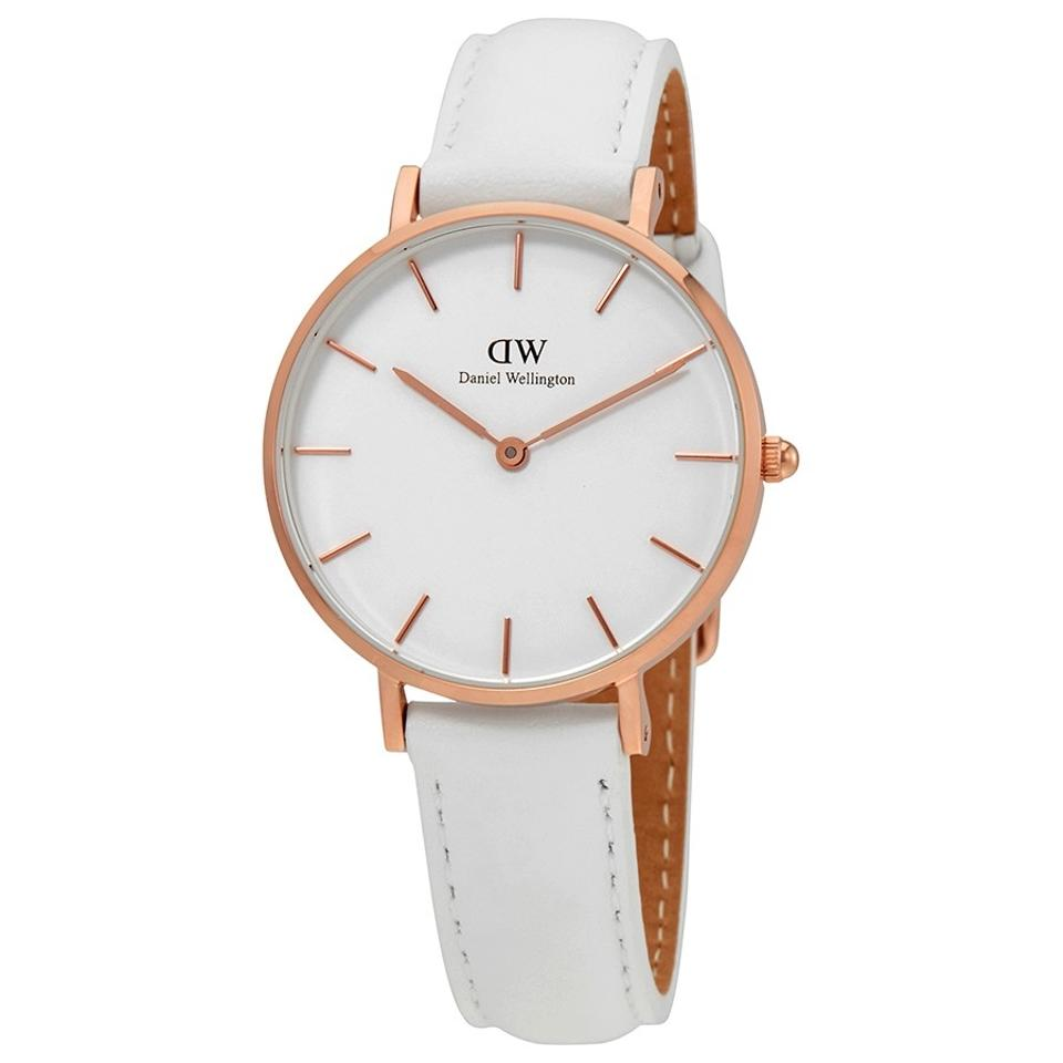 d64384d037db Daniel Wellington White Classic Petite Bondi 28 Rose Gold Watch ...