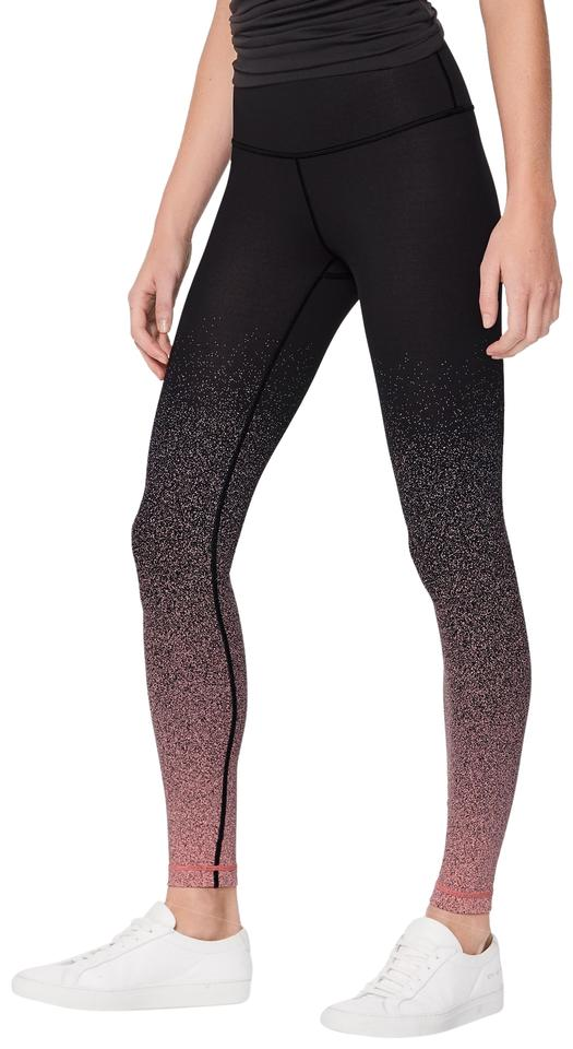 a339020db026c Lululemon Black and Pink Speckle Ombre Wunder Under Hi-rise Tight *full-on Luon  28