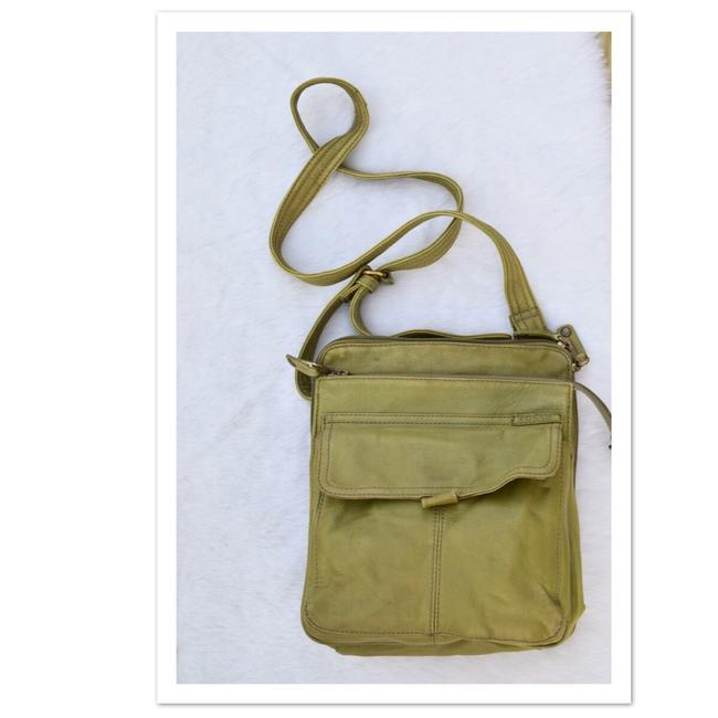 Item - Lime Green Leather Cross Body Bag