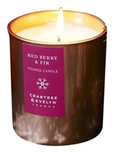 Crabtree & Evelyn Crabtree & Evelyn RED BERRY & FIR POURED CANDLE 200g Limited Edition