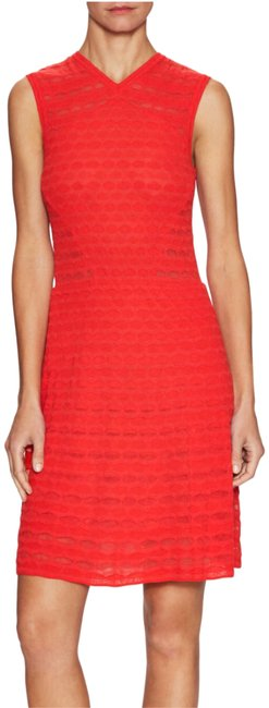 M Missoni Red Knit Mid-length Cocktail Dress Size 8 (M) M Missoni Red Knit Mid-length Cocktail Dress Size 8 (M) Image 1