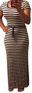 Black and White Stripes Maxi Dress by MICHAEL Michael Kors