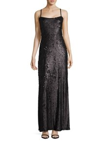 BCBGMAXAZRIA Gown Sequins Adjustable Straps Evening Gown Glitter Dress - item med img