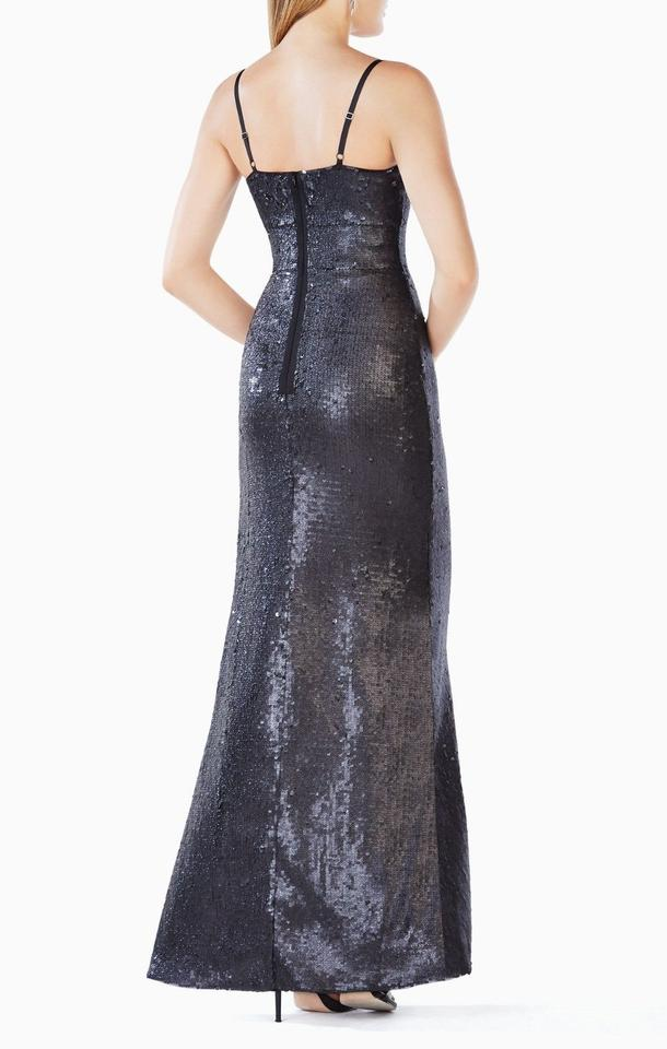 BCBGMAXAZRIA Black Gisselle Stunning Sequined Evening Gown Long ...