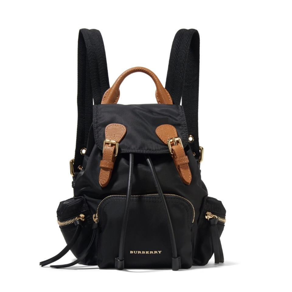7912b87847 Burberry Gabardine Leather Trimmed Backpack - Tradesy