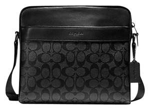 Coach New With Tags Men's CHARCOAL/BLACK/Black Messenger Bag