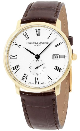 Preload https://img-static.tradesy.com/item/23254691/frederique-constant-yello-gold-men-s-limline-leather-fc245wr5s5-watch-0-1-540-540.jpg