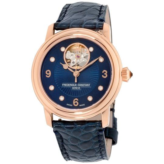 Frédérique Constant Frederique Constant Women's Navy Dial Leather Watch Fc-310Hband2P4