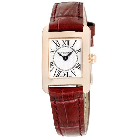 Preload https://img-static.tradesy.com/item/23254759/frederique-constant-burgundy-women-s-silver-dial-leather-fc-200mc14-watch-0-0-540-540.jpg