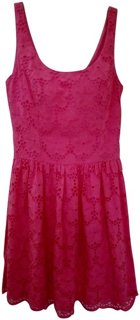 Preload https://img-static.tradesy.com/item/23254801/lilly-pulitzer-pink-eyelet-fit-and-flare-short-cocktail-dress-size-2-xs-0-1-650-650.jpg