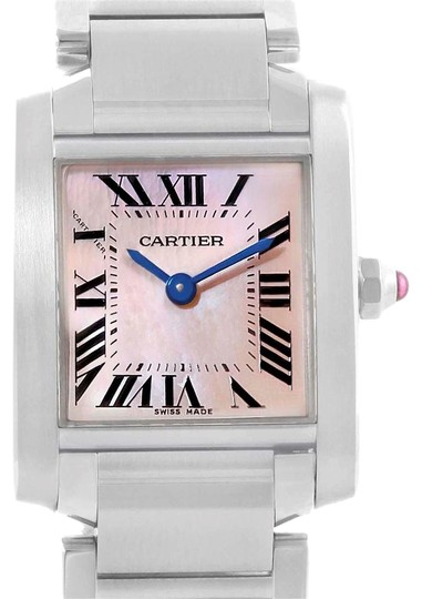 Preload https://img-static.tradesy.com/item/23254833/cartier-pink-francaise-mop-dial-steel-ladies-w51028q3-watch-0-1-540-540.jpg