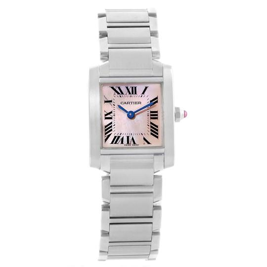 Cartier Cartier Tank Francaise Pink MOP Dial Steel Ladies Watch W51028Q3