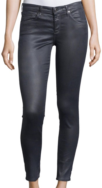 Item - Meteorite (Gray) Coated Mid-rise Cropped Leggings Skinny Jeans Size 29 (6, M)