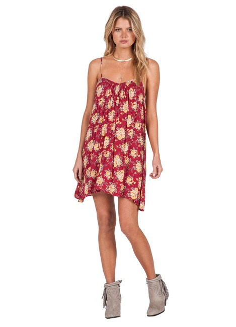 Volcom short dress red Floral Beach Coverup Flowers on Tradesy