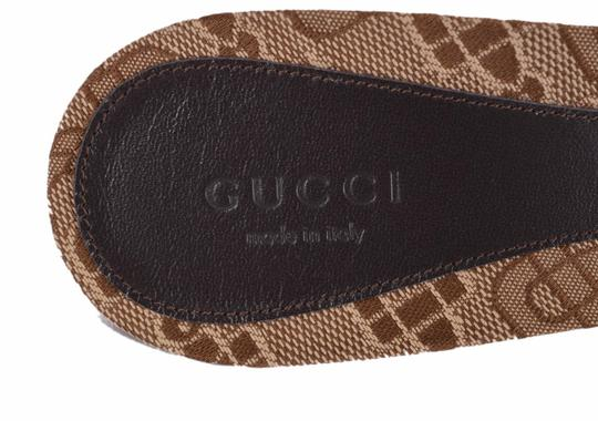 Gucci Ebony and Beige Sandals