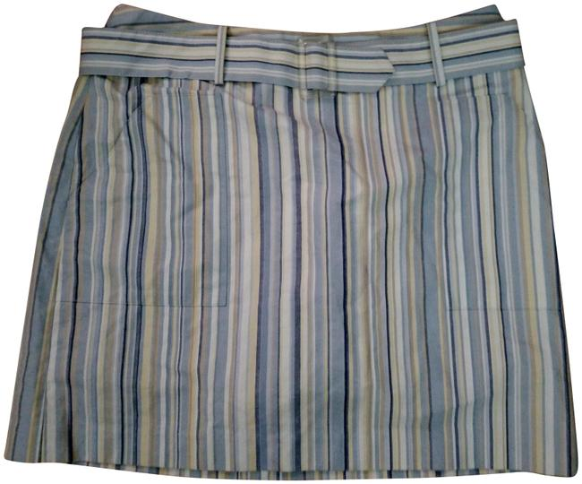 Item - Blue Yellow and White W B.n.w. Striped Shorts Size 12 (L, 32, 33)