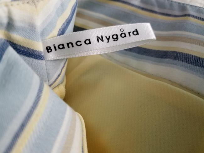 Bianca Nygard Cotton Fun Belted Stripes Skort Blue, Yellow and white