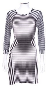 Diane von Furstenberg short dress 'haven' Black & White Striped 3/4 Sleeve Sheath on Tradesy