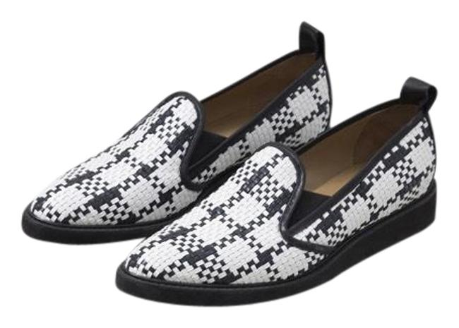 Item - Black and White Street Woven Flats Size US 10 Narrow (Aa, N)