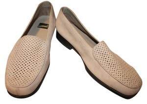 What's What Micro Suede Leather Tan Flats