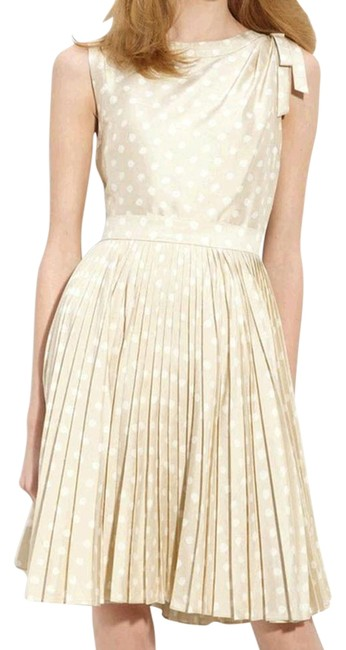 Item - Beige and Cream Melody Njmu1085 Mid-length Cocktail Dress Size 10 (M)