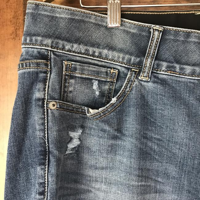 Lane Bryant New With 5-pocket Style Distressed 2 Button Close Skinny Jeans-Distressed