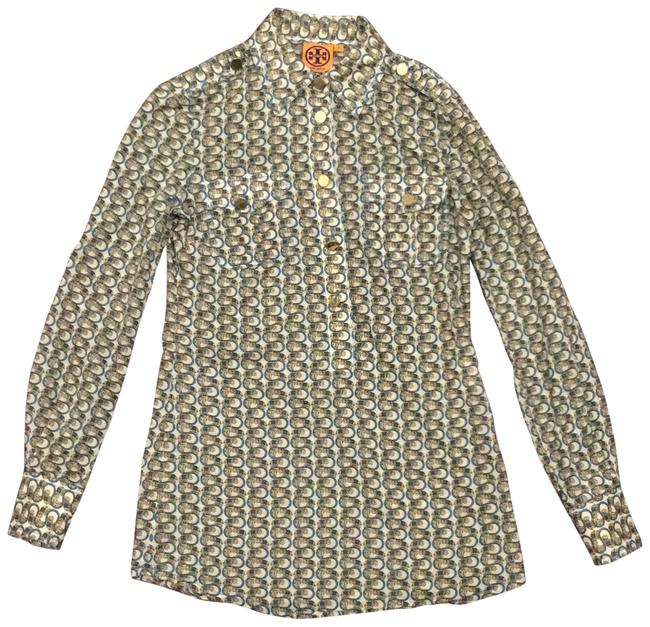 Preload https://img-static.tradesy.com/item/23255390/tory-burch-bluebeige-34-sleeve-mid-button-down-top-size-0-xs-0-1-650-650.jpg