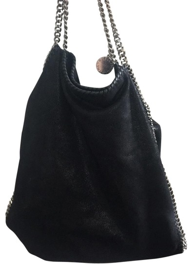 Preload https://img-static.tradesy.com/item/23255396/stella-mccartney-falabella-shaggy-deer-tote-large-black-silver-hardware-vegan-leather-satchel-0-1-540-540.jpg