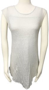 Zara Collection Linen Knit Day Evening Top Gray
