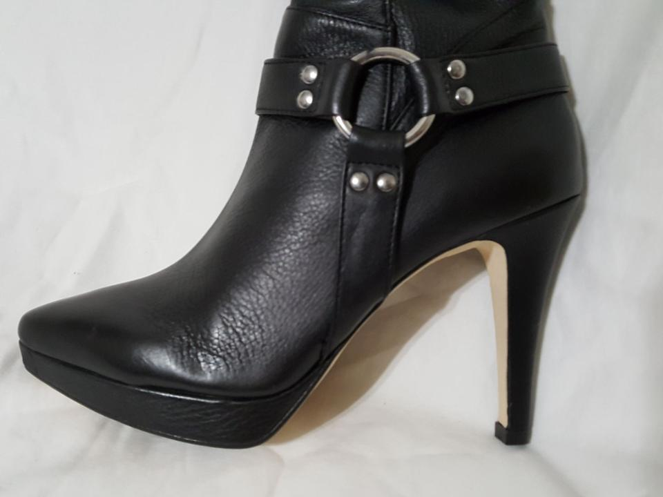 a10cd7d7639ad Ros Hommerson Black Tease Over The Knee Thigh High Leather Boots/Booties