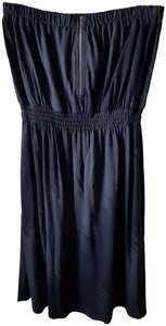Gap short dress blue Strapless Stretch on Tradesy