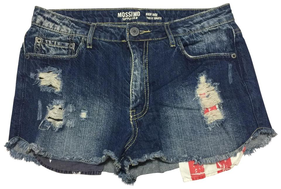 8d6a8e12245931 Mossimo Supply Co. American Flag Pocket High Waist Shorts Size 8 (M ...