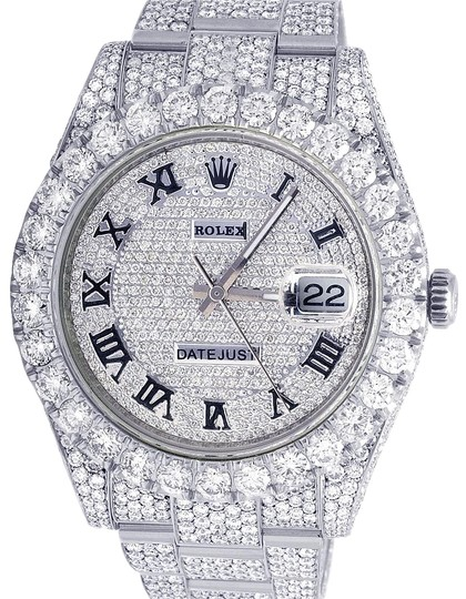 Preload https://img-static.tradesy.com/item/23255664/rolex-stainless-steel-mens-datejust-ii-full-iced-out-41mm-116300-vs-diamond-3155-ct-watch-0-1-540-540.jpg
