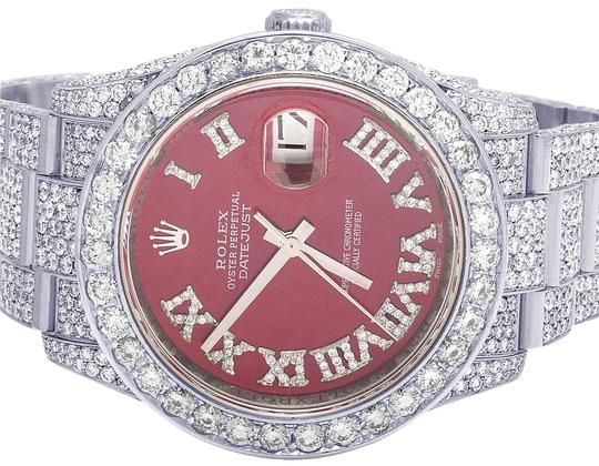 Preload https://img-static.tradesy.com/item/23255688/rolex-stainless-steel-datejust-36mm-116200-red-dial-iced-out-vs-diamond-2655-ct-watch-0-1-540-540.jpg