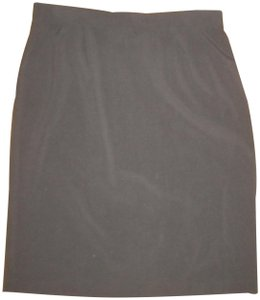 Briggs Pencil Career Poly Blend Skirt Black