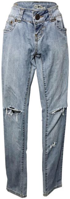 Preload https://img-static.tradesy.com/item/23255794/fusion-jeans-blue-distressed-stretch-straight-leg-destroyed-junior-1-skinny-jeans-size-24-0-xs-0-1-650-650.jpg